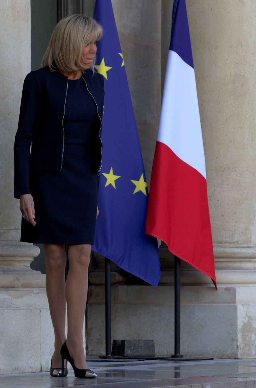 Brigitte Macron à l'Elysée mardi.