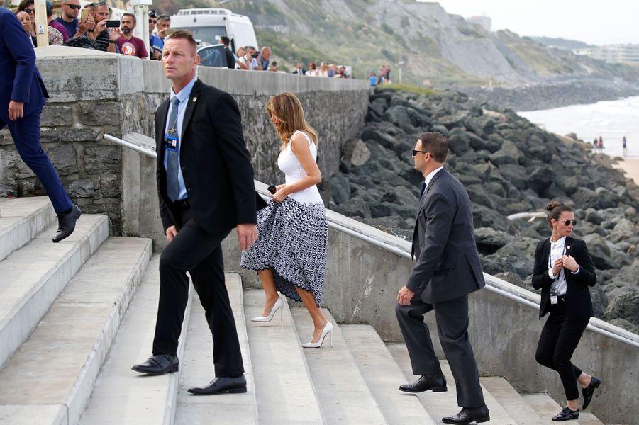 Melania Trump lundi à Biarritz.