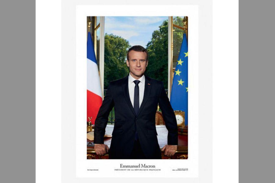 Affiche portrait officiel du Président de la République
