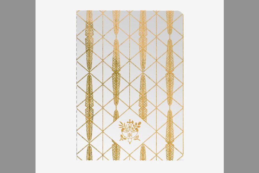 Carnet en palmes dorées du Palais de l'Élysée (Maison du Carnet)