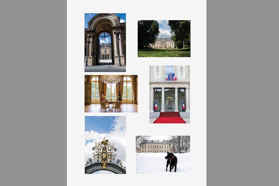 Lot de 6 cartes postales du Palais de l'Élysée.