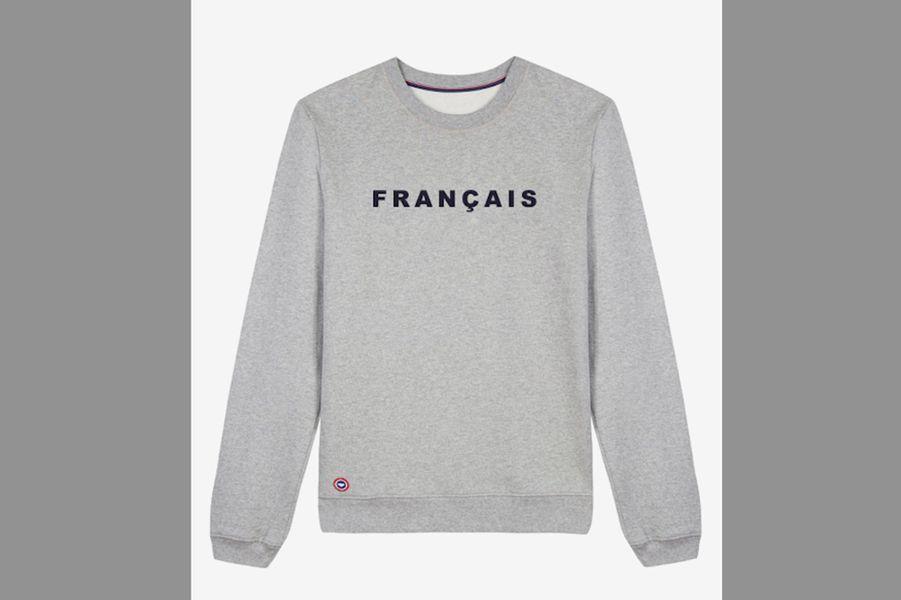 Sweat-shirt brodé Français (Le Slip Français)