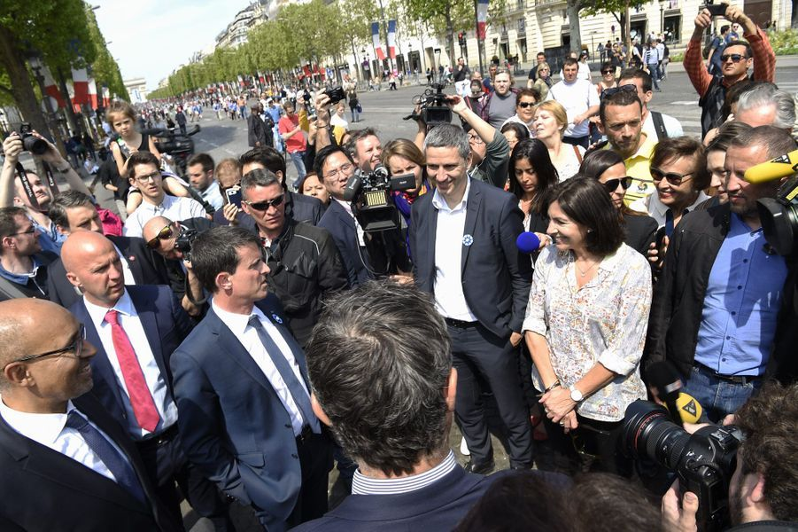Avec la maire de Paris, Anne Hidalgo