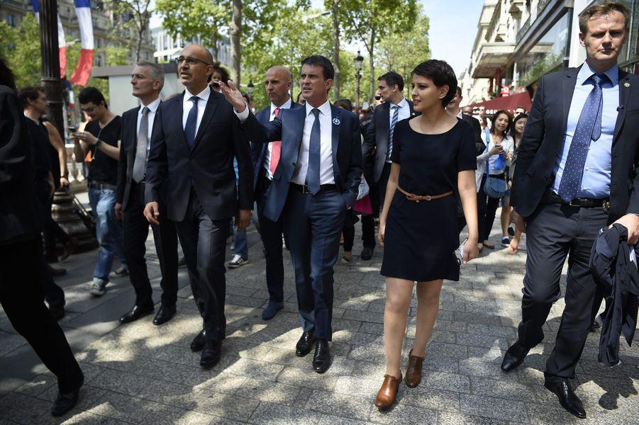 Harlem Désir, Manuel Valls et Najat Vallaud-Belkacem