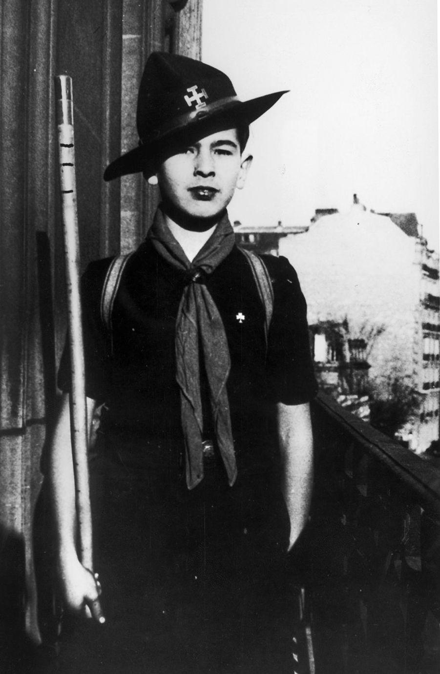 Valéry Giscard d'Estaing, à l'âge de 11 ans en 1937.