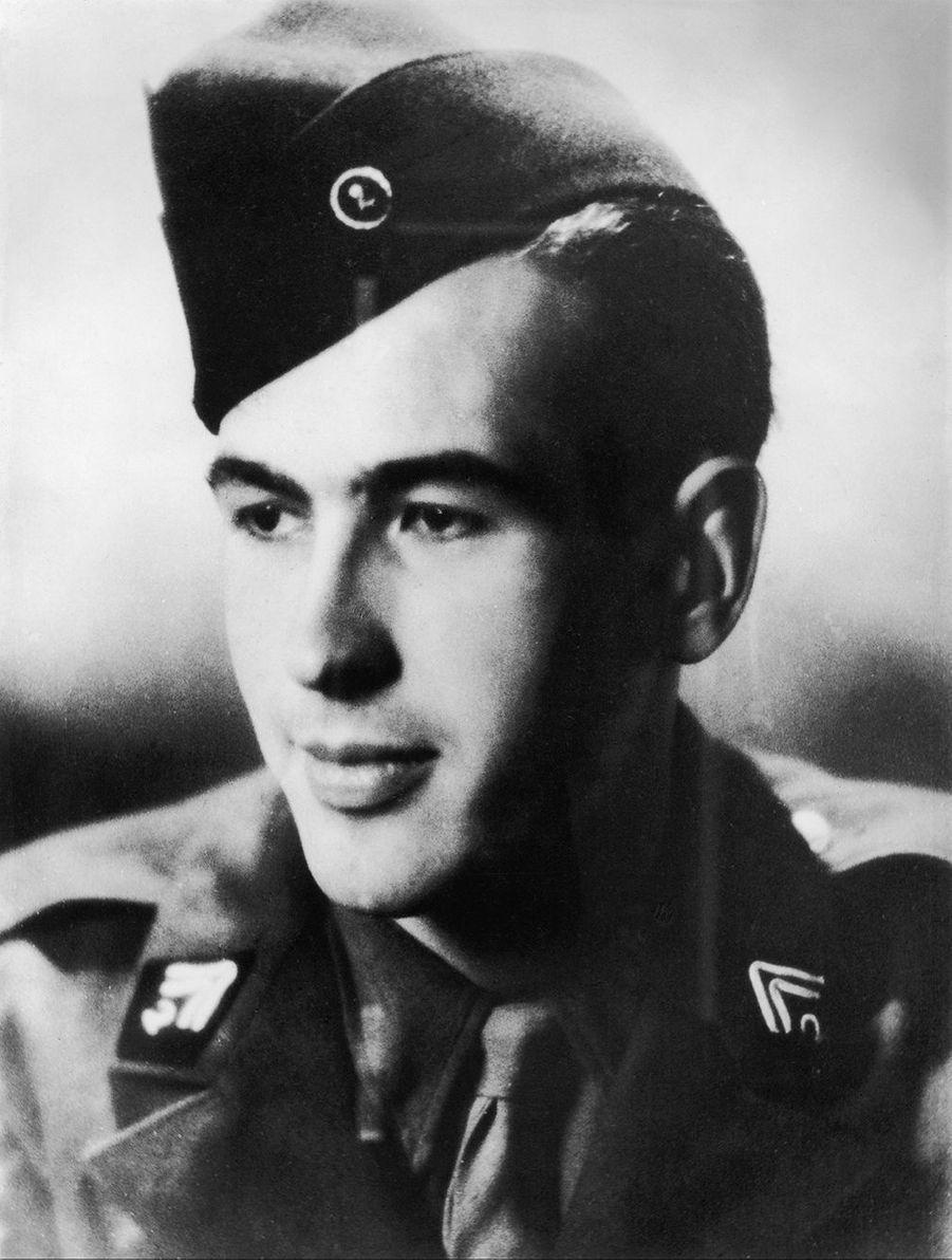Valéry Giscard d'Estaing durant la Seconde guerre mondiale.
