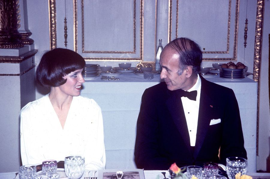 Margaret Trudeau et Valéry Giscard d'Estaing, 1974.