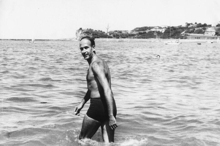 Valéry Giscard d'Estaing àSaint Jean de Luz, en août 1965.
