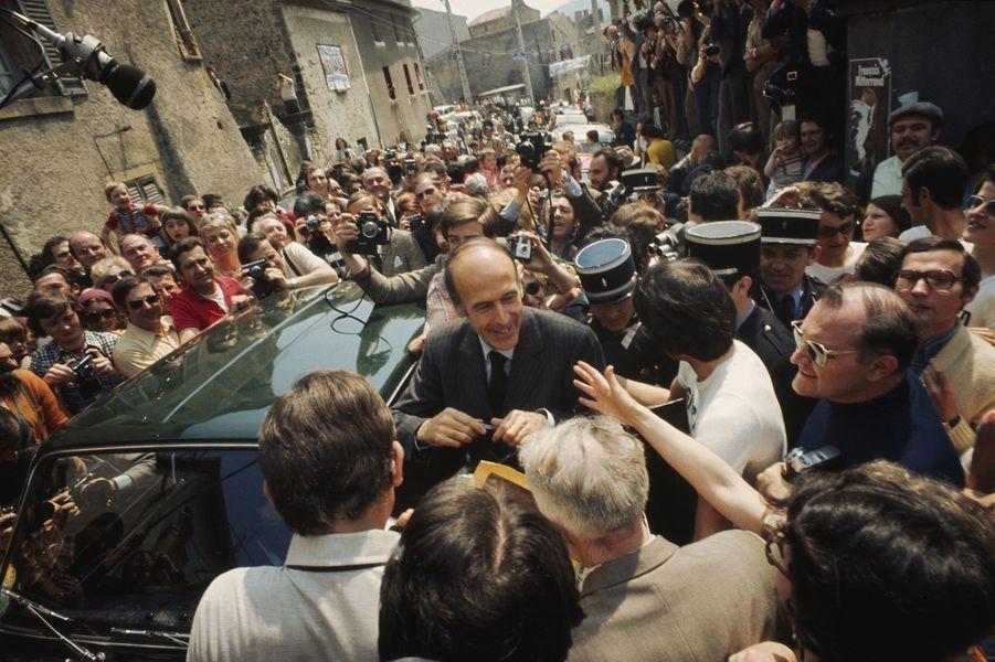 Valéry Giscard d'Estaing lors de la campagne de 1974.