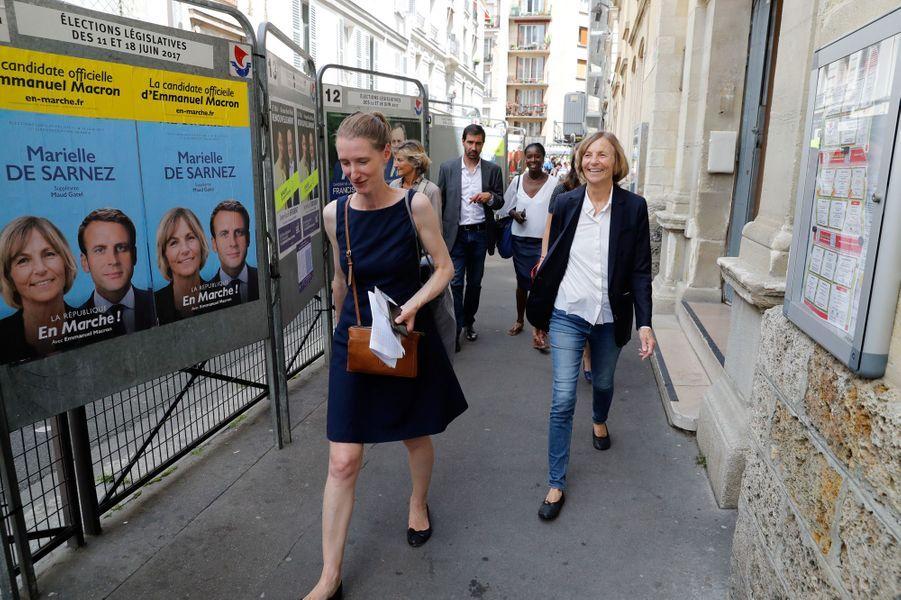 Marielle de Sarnez,ministre des Affaires européennes et candidate aux législatives à Paris.