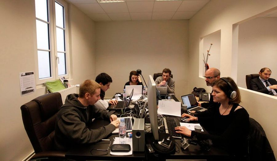 Au quatrième étage se trouve l'équipe chargée de la campagne numérique.