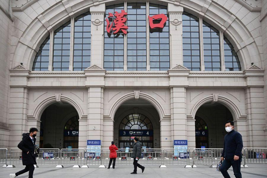 La station de train Hankou fermée au public