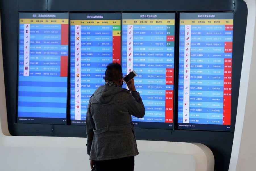 Les vols au départ de Wuhan ont tous été supprimés.