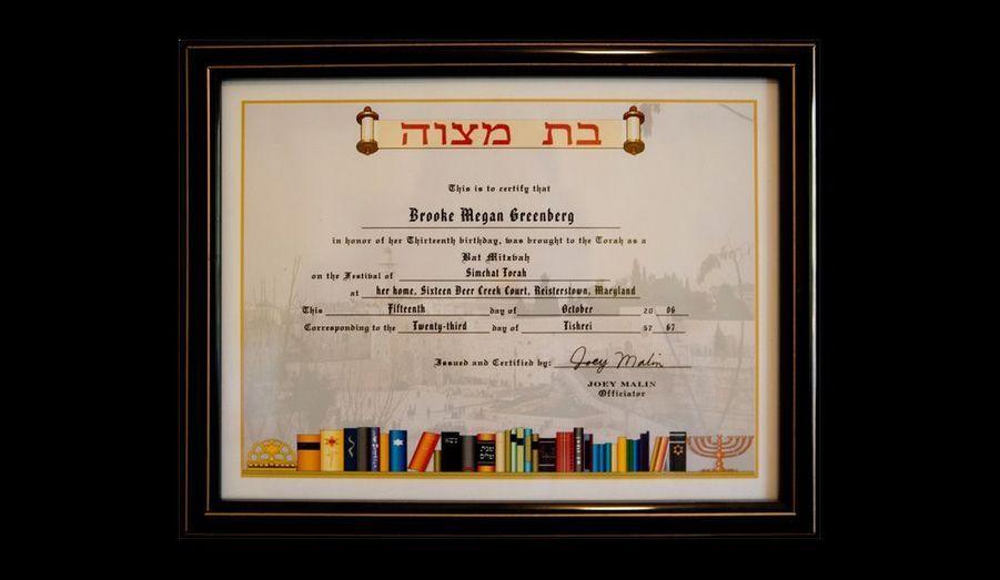Les Greenberg ont tenu à organiser la bat-mitsva de Brooke, rite de passage dans la religion juive, avec une cinquantaine d'amis, bien que leur rabbin ait refusé de célébrer la cérémonie en raison du handicap de la fillette.