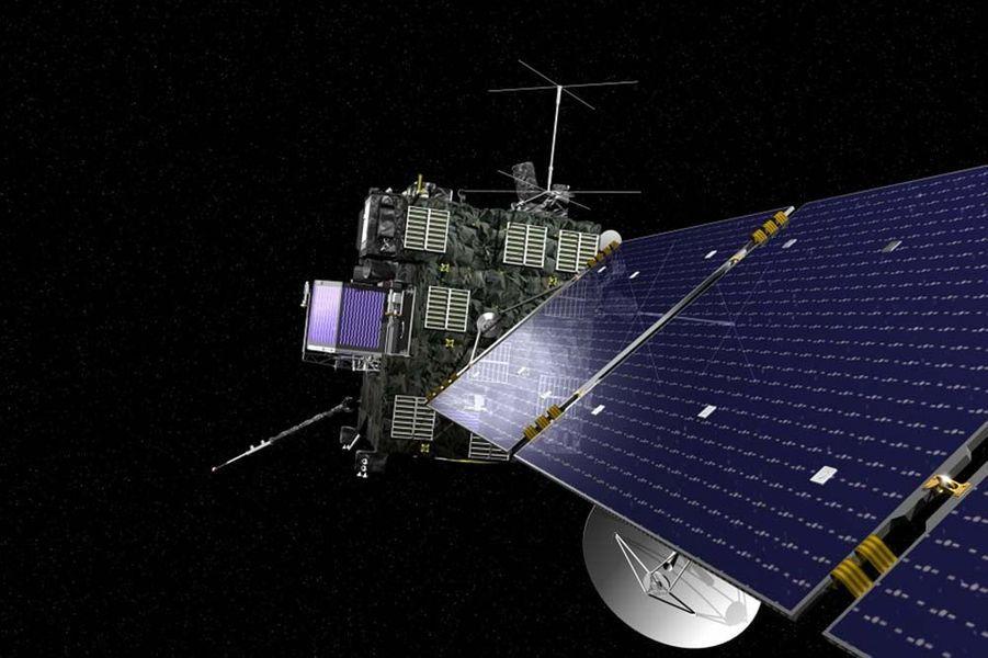 L'année 2015 a été riche en actualités spatiales. Entre les épisodesRosetta et Philaesur la comète Tchouri, ladécouverte d'eau liquidesur Mars,les magnifiques clichésde la planète naine Pluton,la conquête spatialede Jeff Bezos, oules mystérieuses lumières de Cérès, les mordus d'étoiles ont été servis.Riche en rebondissements, la mission Rosetta devrait se terminer en septembre prochain. La sonde en orbite, qui analyse toujours la comète Tchouri, devrait arrêter son travail à cette date alors que celle-ci se rapproche peu à peu du soleil. Dans le même temps, le robot Philae, lui aussi sur la comète, est toujours «endormi» à cause des faibles rayonnements solaires qui alimentent ses batteries.