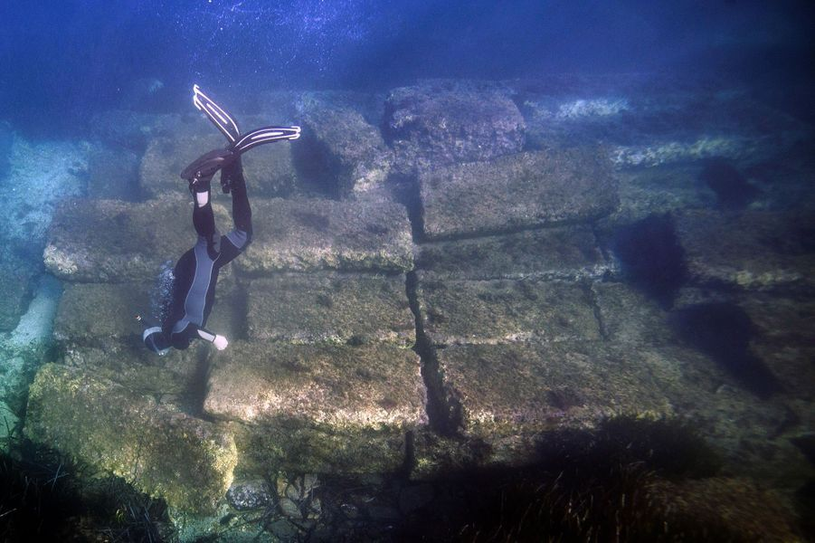 L'ancien port de la cité romaine d'Olbia, àHyères, dans le Var.