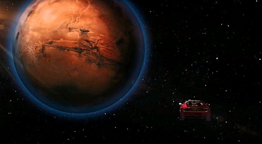 Pour le moment, juste une image de synthèse. Mais sur l'ordinateur de bord, Musk a fait graver « Fabriqué sur Terre par des humains », à destination des martiens. Tous les moyens sont bons pour diversifier la clientèle…