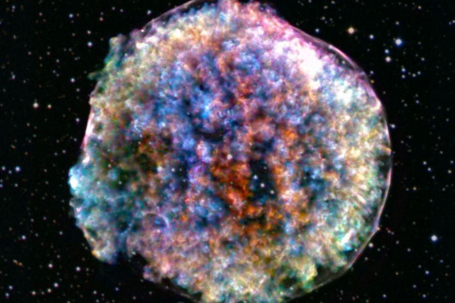 La Supernova deTycho immortalisée par l'observatoireChandra X-ray de la Nasa.