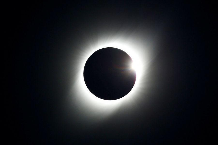 Une éclipse solaire observée à Coquimbo, au Chili.