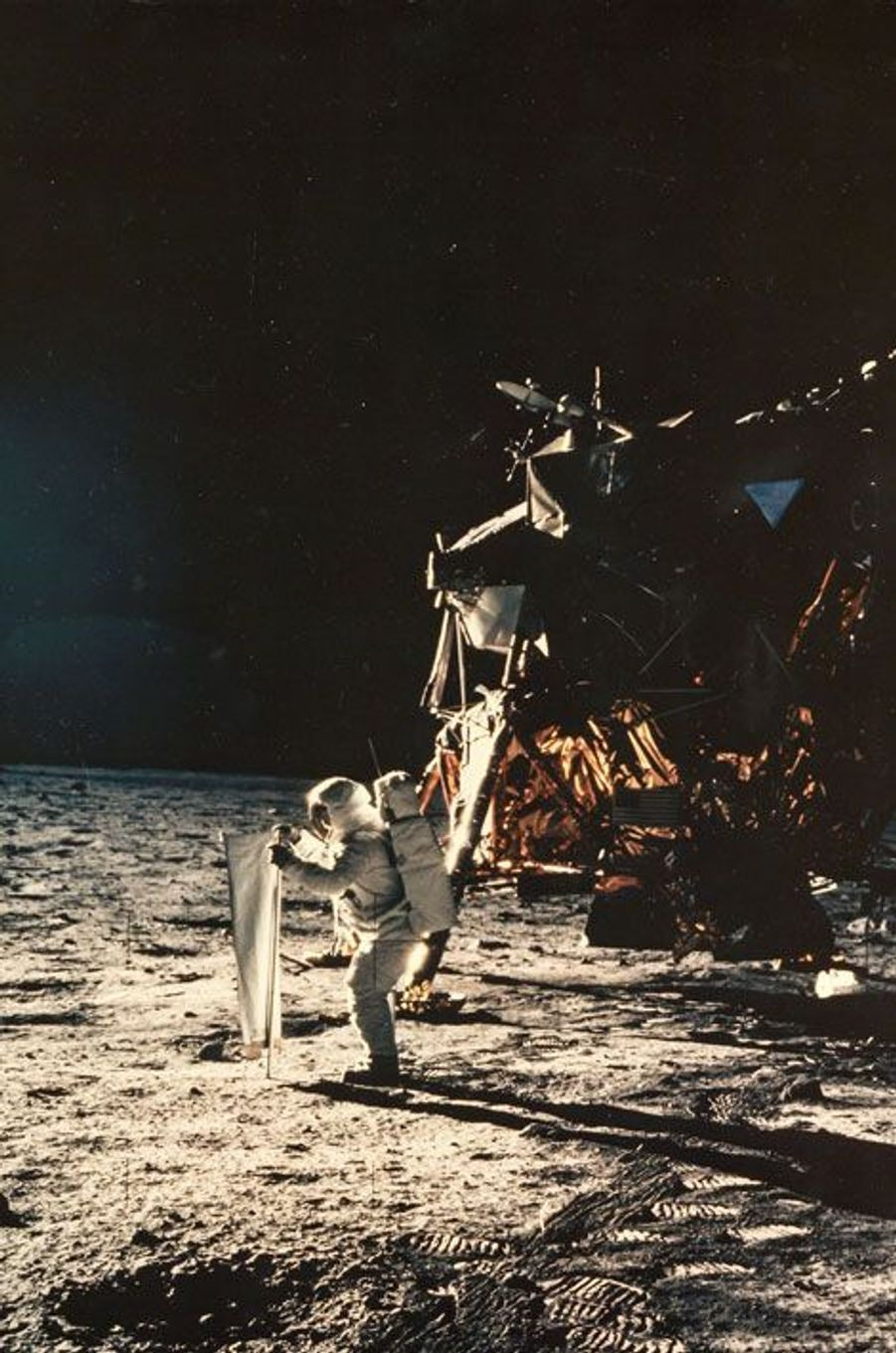 Buzz Aldrin sur la lune, Apollo 11, Juillet 1969