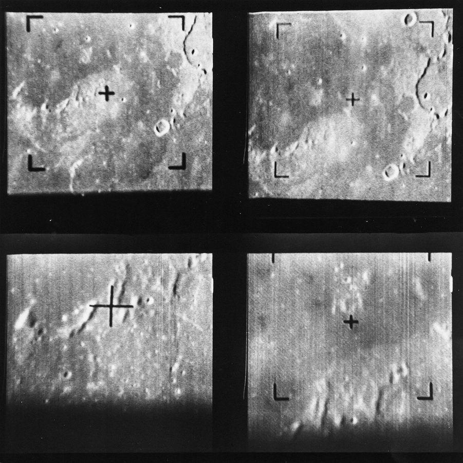 Premiers clichés pris près de la Lune, par la sonde Ranger 7, juillet 1964