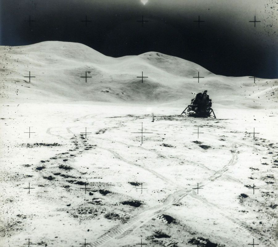 Site d'atterrissage Hadley-Apennine, mission Apollo 15, en août 1971