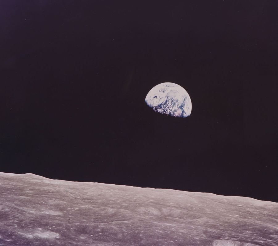 "William Anders, ""Levée de Terre"" lors de la mission Apollo 8, 1968"