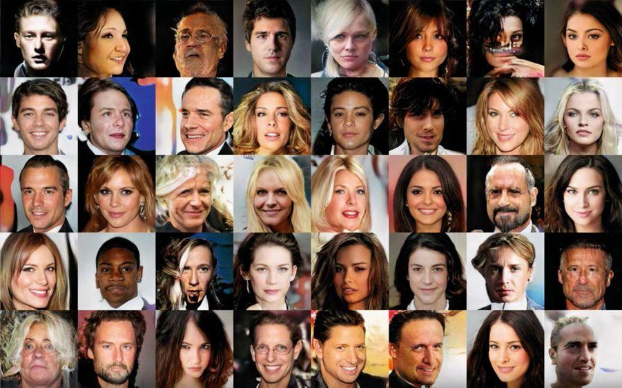 Une galerie de portraits plus vrais que nature... et pourtant entièrement artificiels.Voici les stars du futur. Elles pourront remplacer les acteurs de cinéma ou les présentateurs à la télévision. Une technologie à la pointe de l'IA. Le principe : un jeu de dupes entre deux ordinateurs. Le premier présente au second de fausses images qu'il perfectionne jusqu'au moment où il peut le berner. Pour un visage, il faut 10 millions de révisions qui demandent seulement quelques jours. Selon le célèbre futurologue Ray Kuzweil, salarié de Google, « en 2045, la machine sera un milliard de fois plus puissante que les 8 milliards de cerveaux réunis ». Il sera temps, pour lui, de fusionner avec l'informatique. Grâce à des implants qui donneront à l'homme « l'intelligence des dieux ».