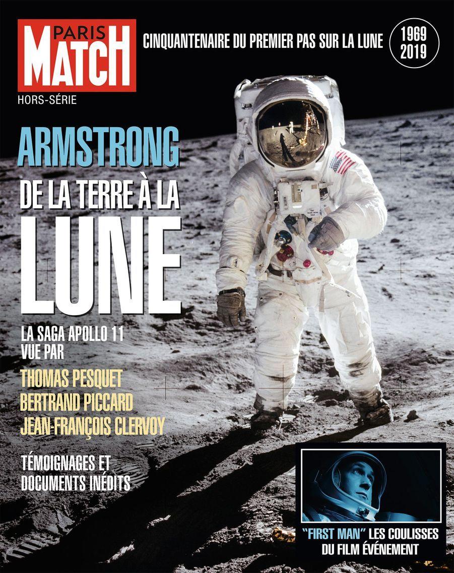 """Notre grand hors-série """"Armstrong, de la Terre à la Lune"""" à l'occasion de la sortie du film """"First Man"""", en vente actuellement chez votre marchand de journaux..."""