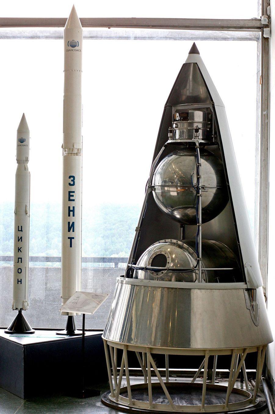 Le satellite Spoutnik dans lequel Laïka est allée dans l'espace.