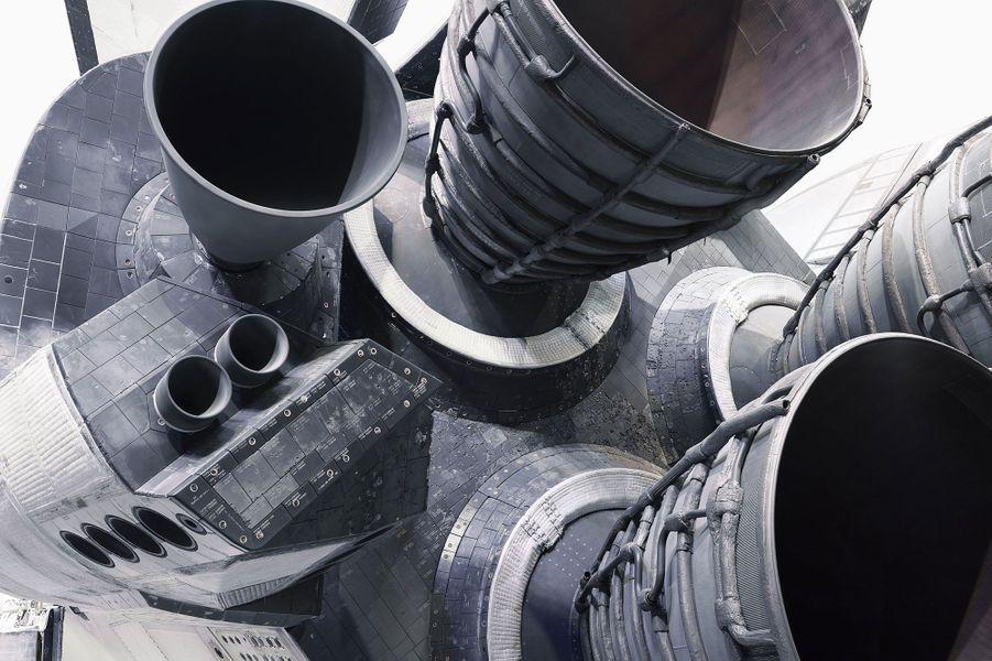 Les moteurs de la navette Atlantis.
