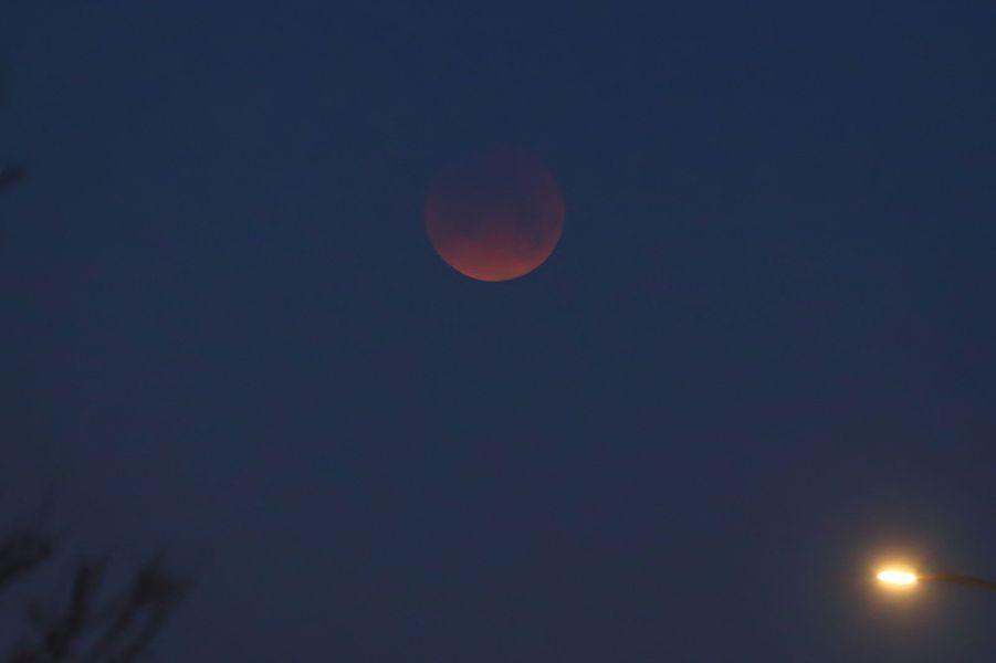 """""""Super lune bleue de sang"""" à Bloomington aux Etats-Unis"""
