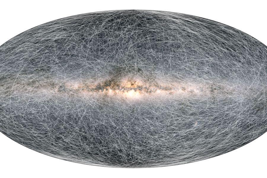 Décembre. Le télescope spatial européen Gaia dévoile la première partie d'un catalogue de plus d'1,8 milliard d'objets célestes de notre galaxie, observés avec une précision inégalée.