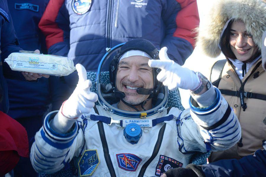 Février. Luca Parmitano de retour sur Terre après avoir séjourné sur l'ISS une seconde fois dans sa carrière.