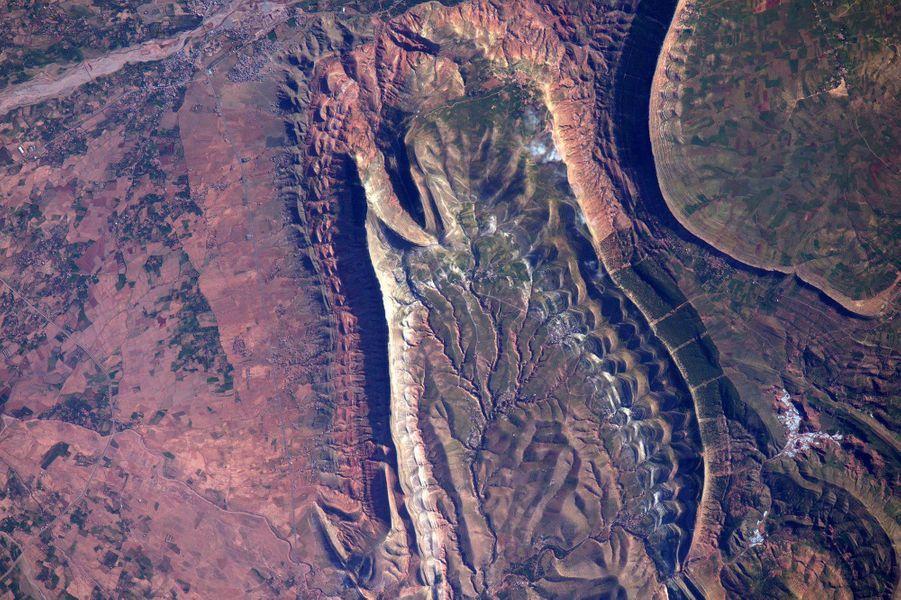 Le Maroc depuis l'ISS