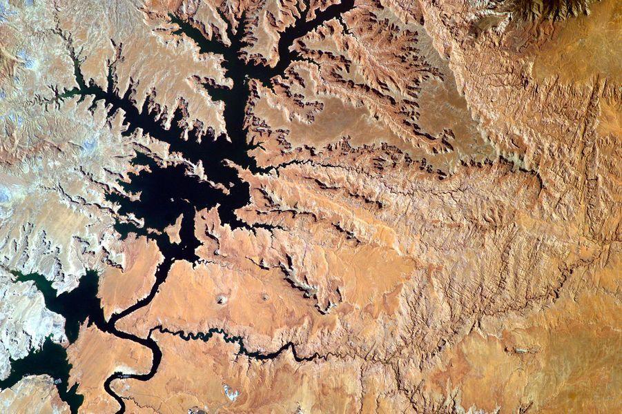 Le lac Powell (Etats-Unis), depuis l'ISS