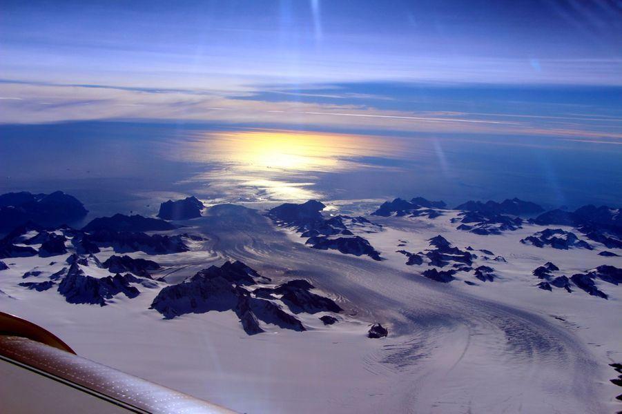 Pont de glaces au Groenland