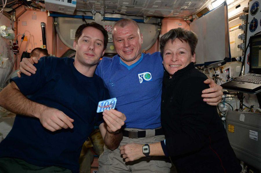 Thomas Pesquet a fêté ses 100 jours passés dans l'espace