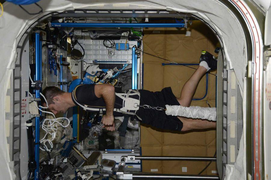 L'entrainement physique depuis l'ISS