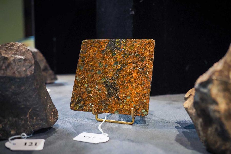 Quelques pièces de la collection de météorites de Gérard Merlier