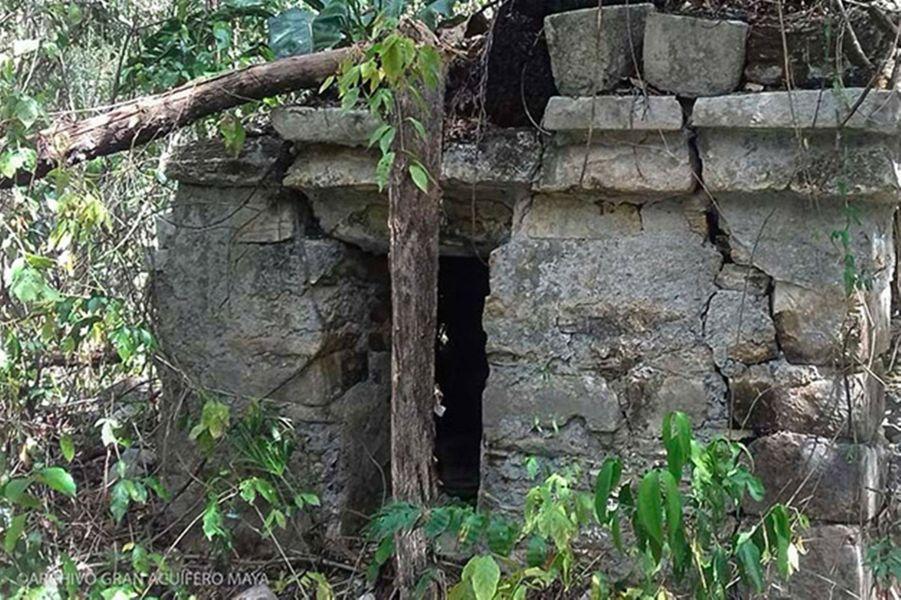 L'entrée des grottes Sac Atun et Dos Ojos, dans l'Etat de Quintana Roo, au Mexique.