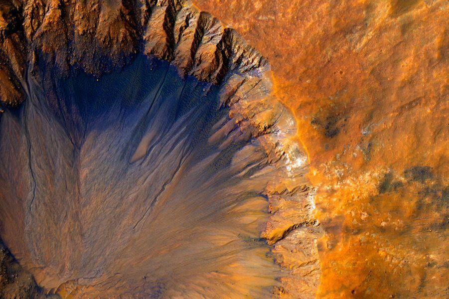 Un cratère martien