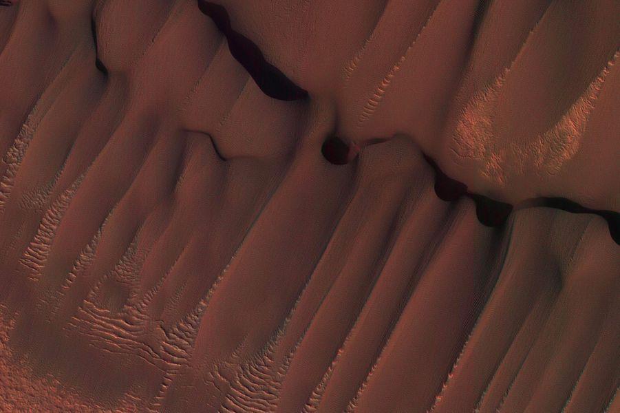 Les dunessur la calotte polaire boréale de Mars