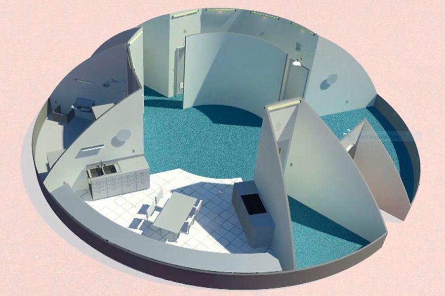 Northwestern University, Illinois: Pour eux, la maison martienne est un dôme dont la structure interne est gonflable tandis que les éléments externes seraient imprimés en 3D.
