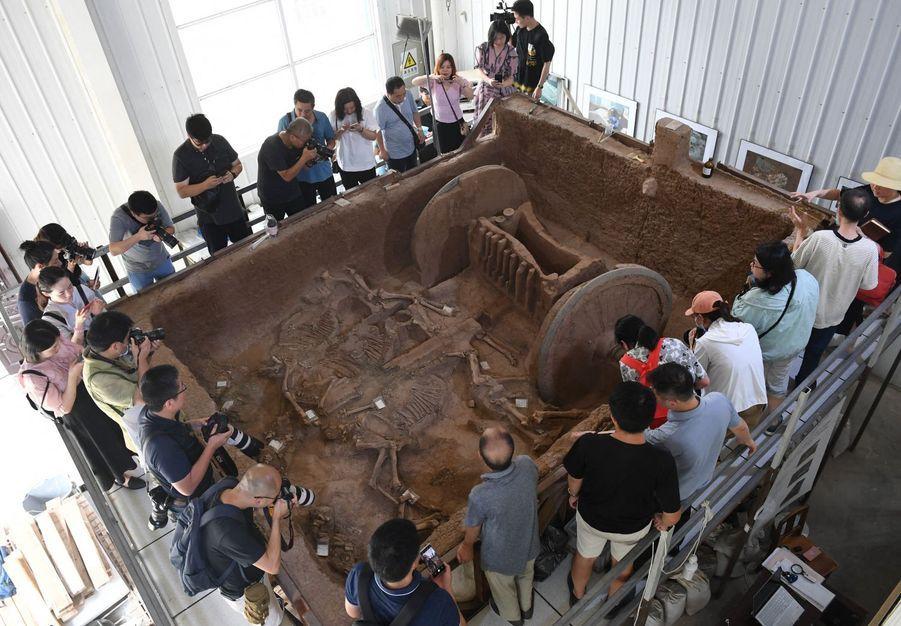 Un char de la dynastie des Zhou (1046-771 avant J.-C.) a été restauré en Chine.