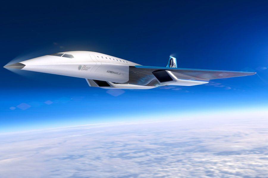 L'appareil imaginé par Virgin dans des images publiées lundi est une aile delta capable d'accueillir entre 9 et 19 passagers, à une altitude supérieure à 60.000 pieds soit 18.000 mètres.