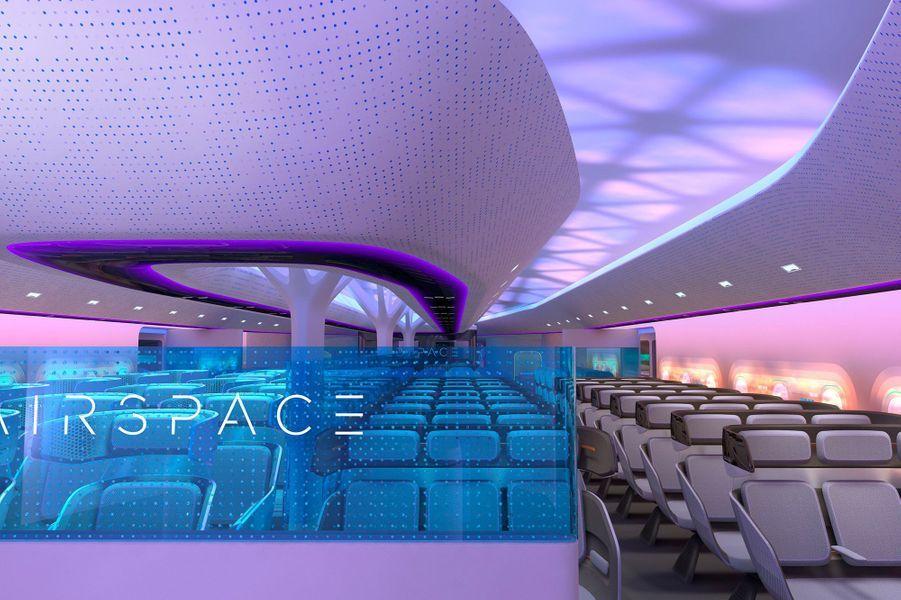 Vue d'artiste de la cabine du Maveric d'Airbus.