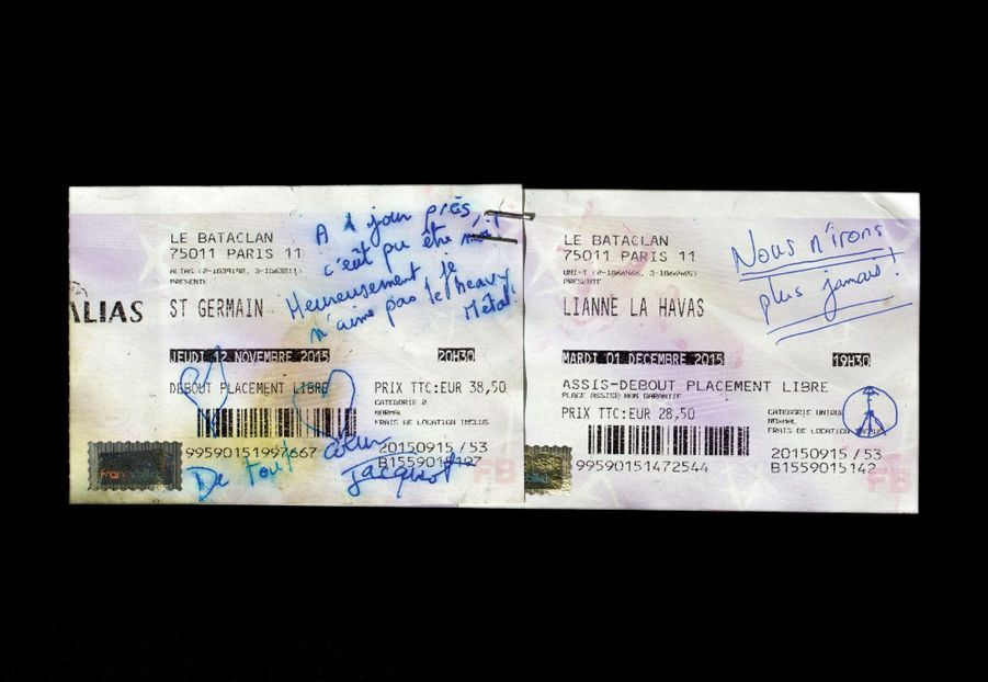 Billets de concert, Bataclan (3904W).