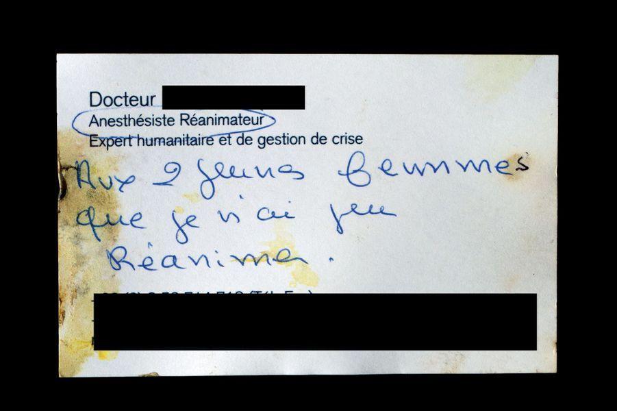 La carte de visite de Michel, La Bonne Bière (3905W). A la demande des Archives de Paris, soumises à un devoir de confidentialité, son nom a été masqué.