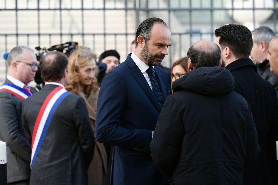 Edouard Philippe lors de la cérémonie hommage au Stade de France, trois ans après les attaques du 13 novembre 2015.